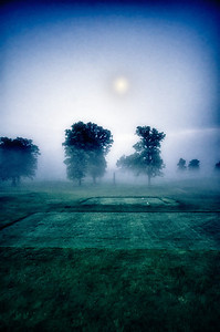 Misty morning at the golf course. Makes me feel like a werewolf should be coming around the corner.